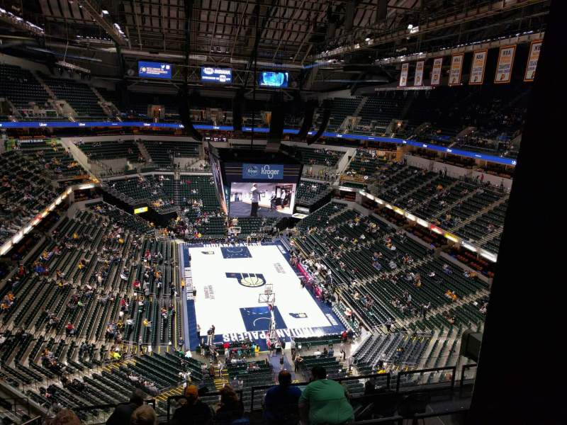 Seating view for Bankers Life Fieldhouse Section 217 Row 9 Seat 19