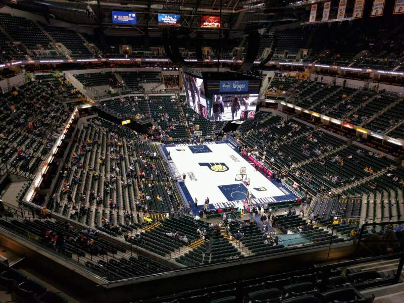 Seating view for Bankers Life Fieldhouse Section 218 Row 6 Seat 8
