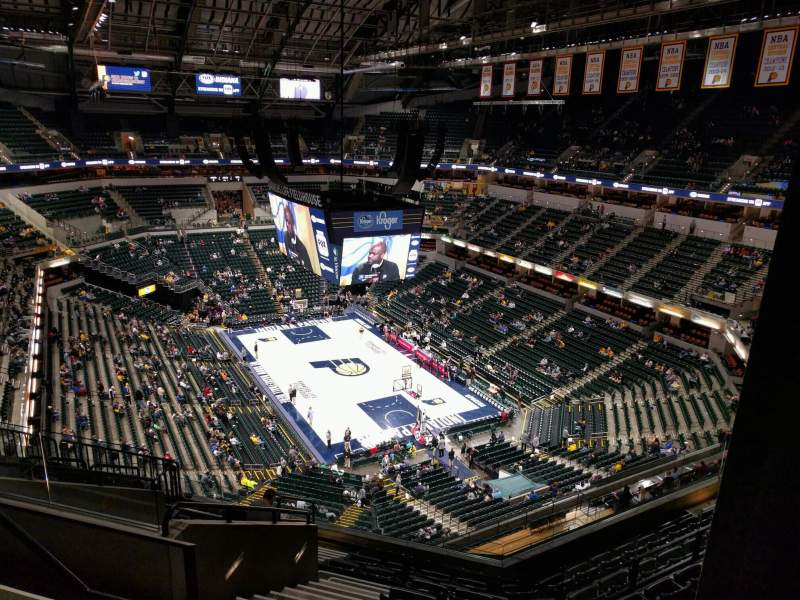 Seating view for Bankers Life Fieldhouse Section 219 Row 10 Seat 14
