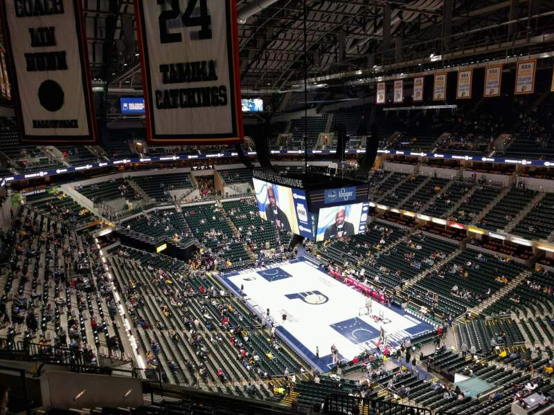 Seating view for Bankers Life Fieldhouse Section 220 Row 12 Seat 9