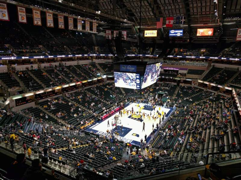 Seating view for Bankers Life Fieldhouse Section 230 Row 6 Seat 6