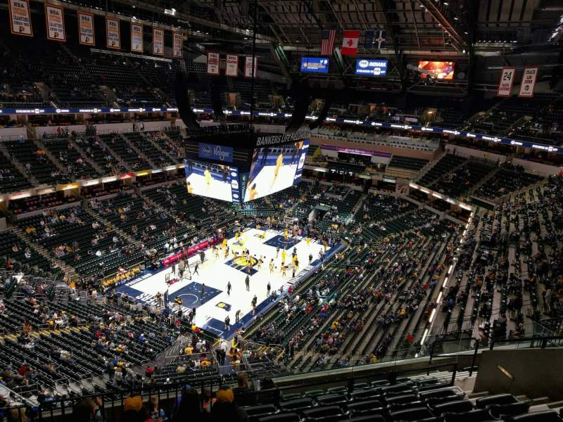 Seating view for Bankers Life Fieldhouse Section 229 Row 9 Seat 11