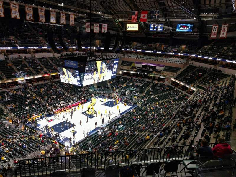 Seating view for Bankers Life Fieldhouse Section 228 Row 8 Seat 14