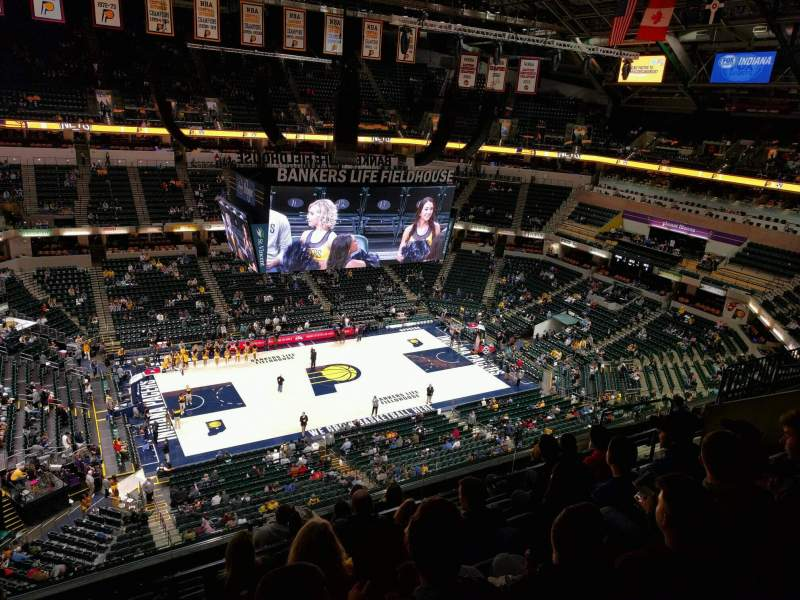 Seating view for Bankers Life Fieldhouse Section 226 Row 8 Seat 14