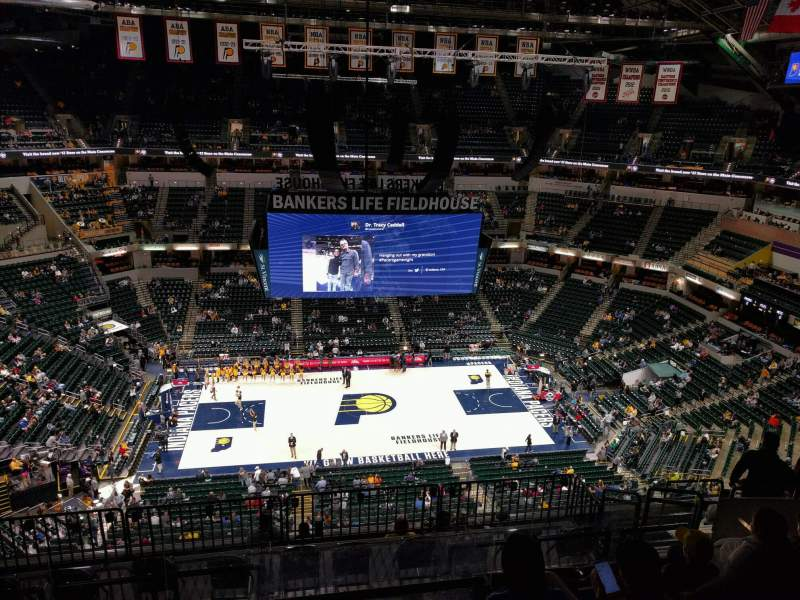 Seating view for Bankers Life Fieldhouse Section 225 Row 10 Seat 11