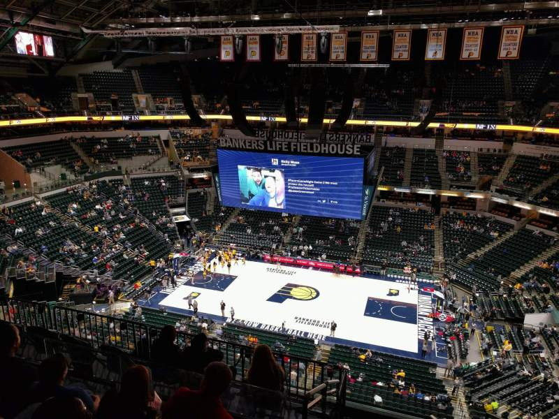 Seating view for Bankers Life Fieldhouse Section 224 Row 8 Seat 2