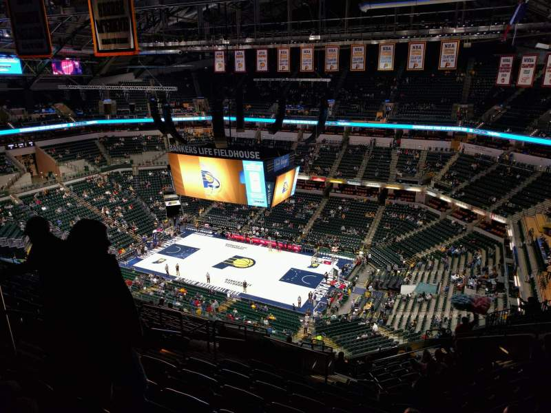 Seating view for Bankers Life Fieldhouse Section 222 Row 15 Seat 17