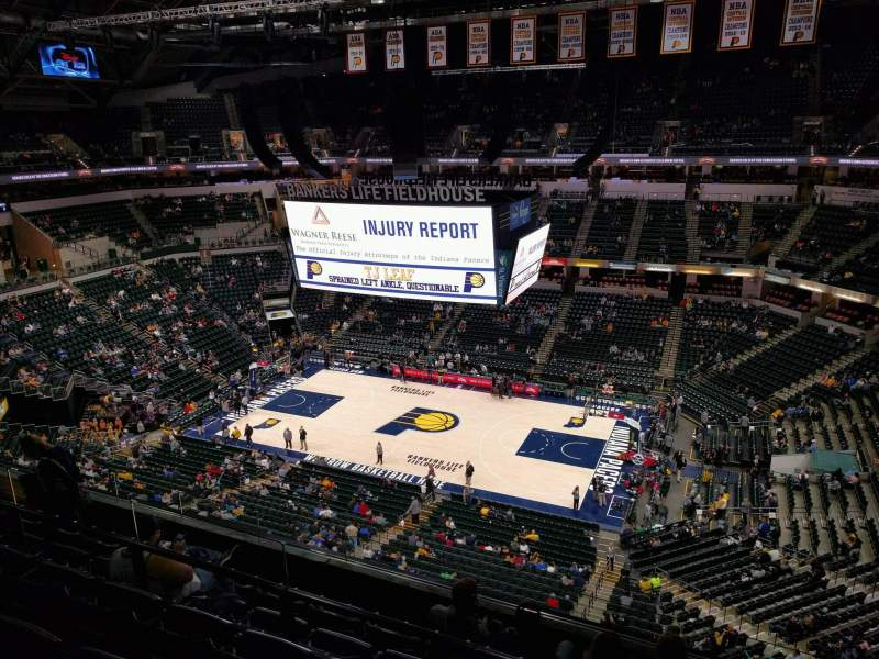 Seating view for Bankers Life Fieldhouse Section 223 Row 6 Seat 13