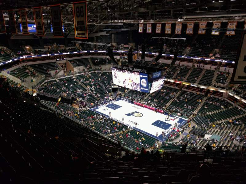 Seating view for Bankers Life Fieldhouse Section 222 Row 19 Seat 9