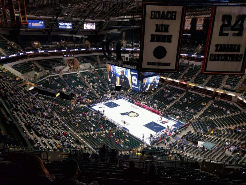 Seating view for Bankers Life Fieldhouse Section 221 Row 16 Seat 10