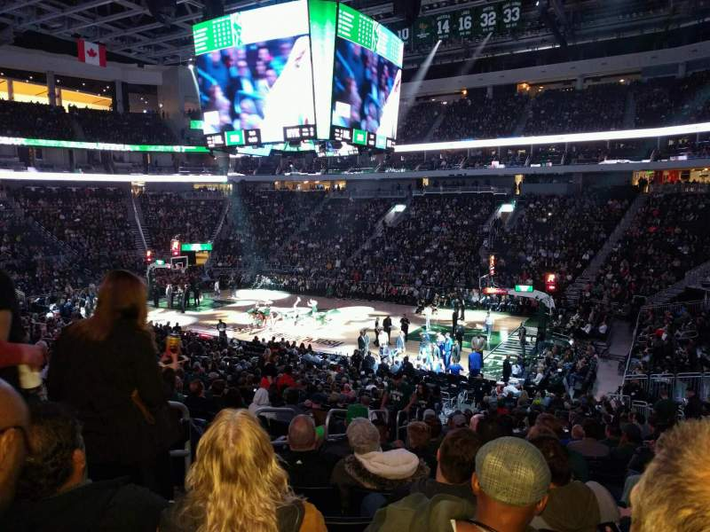 Seating view for Fiserv Forum Section 115 Row 22 Seat 20