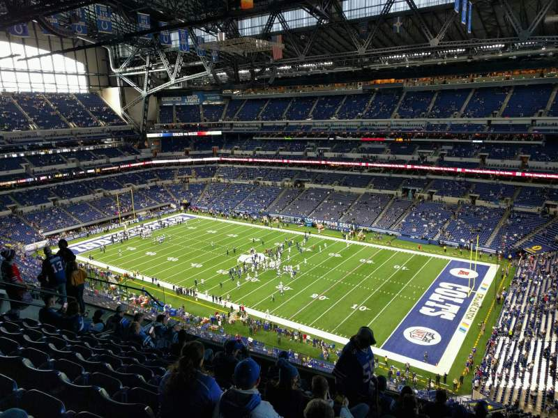 Seating view for Lucas Oil Stadium Section 608 Row 9 Seat 10