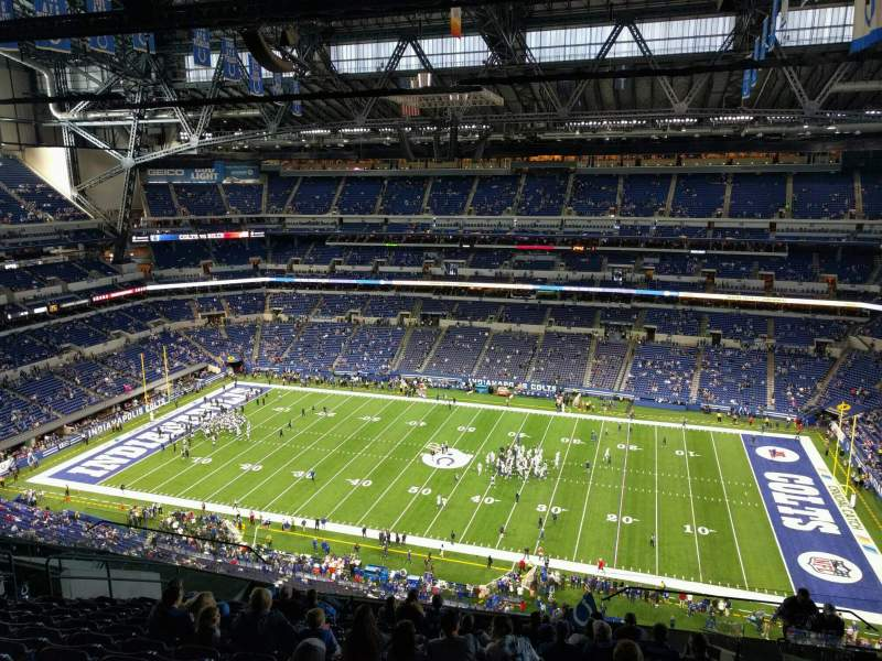 Seating view for Lucas Oil Stadium Section 611 Row 15 Seat 8