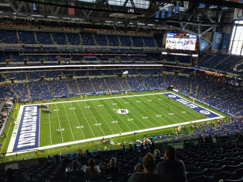 Seating view for Lucas Oil Stadium Section 616 Row 17 Seat 14