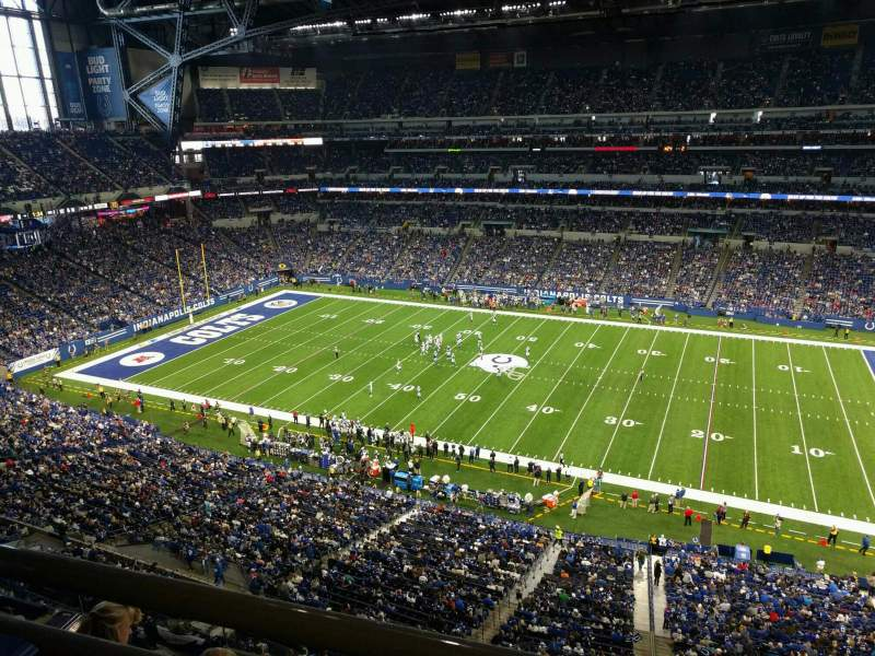 Seating view for Lucas Oil Stadium Section 538 Row 5w Seat 1