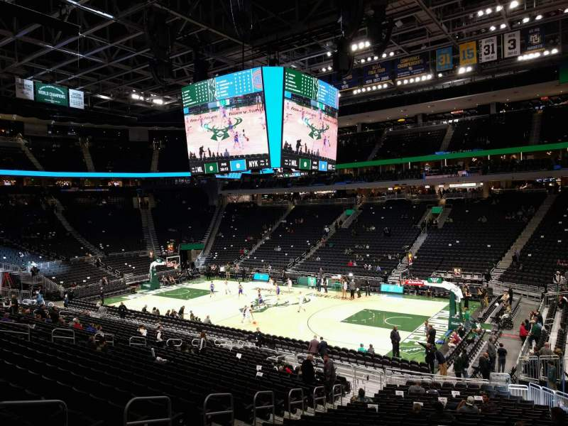Seating view for Fiserv Forum Section 104 Row 23 Seat 17
