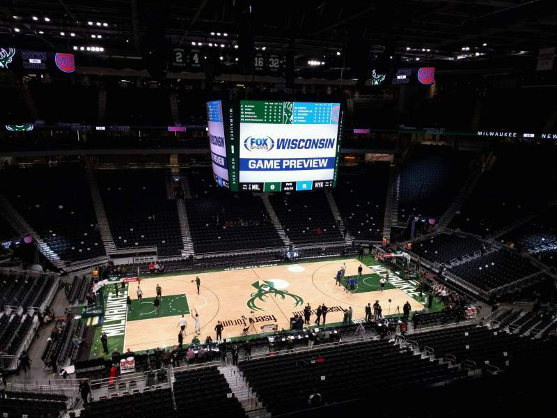 Seating view for Fiserv Forum Section 223 Row 4 Seat 11
