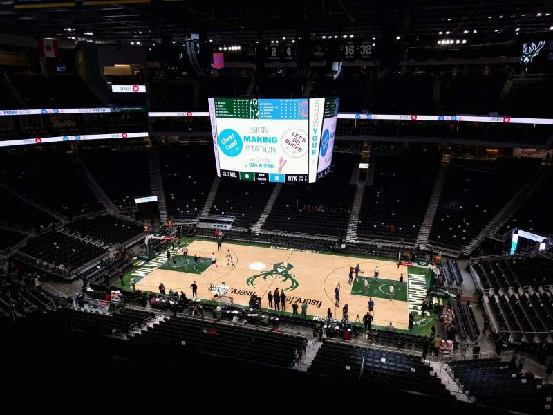 Seating view for Fiserv Forum Section 221 Row 9 Seat 12