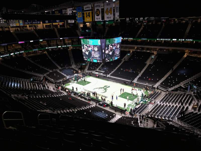 Seating view for Fiserv Forum Section 219 Row 13 Seat 7