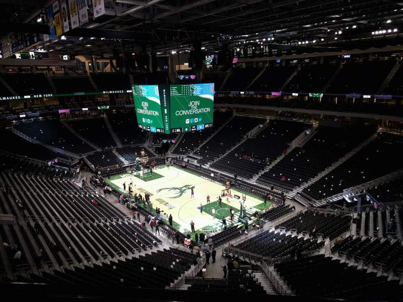 Seating view for Fiserv Forum Section 218 Row 7 Seat 9