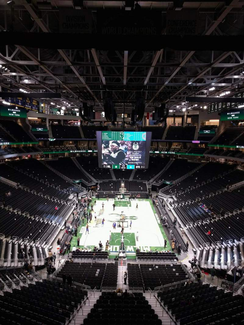 Seating view for Fiserv Forum Section 215 Row 4 Seat 11