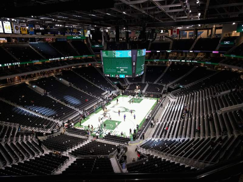 Seating view for Fiserv Forum Section 213 Row 8 Seat 13
