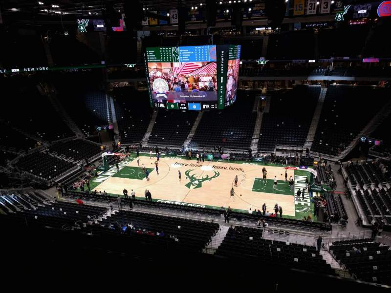 Seating view for Fiserv Forum Section 207 Row 5 Seat 11