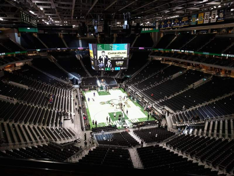 Seating view for Fiserv Forum Section 202 Row 6 Seat 10