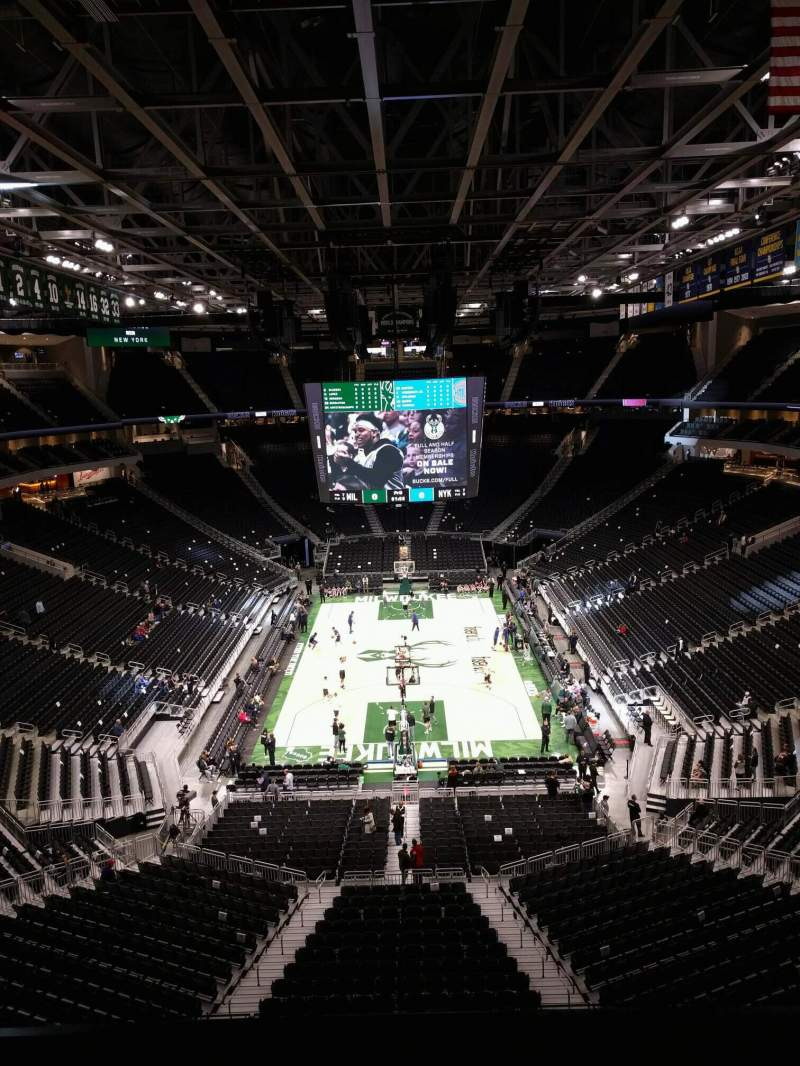 Seating view for Fiserv Forum Section 201 Row 4 Seat 10