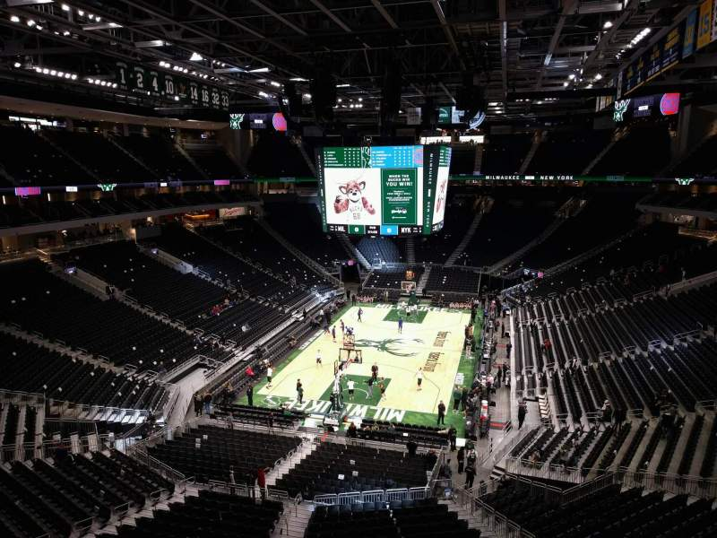 Seating view for Fiserv Forum Section 228 Row 1 Seat 11