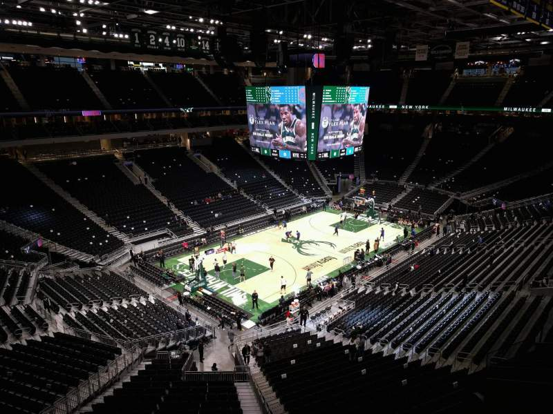 Seating view for Fiserv Forum Section 226 Row 3 Seat 5