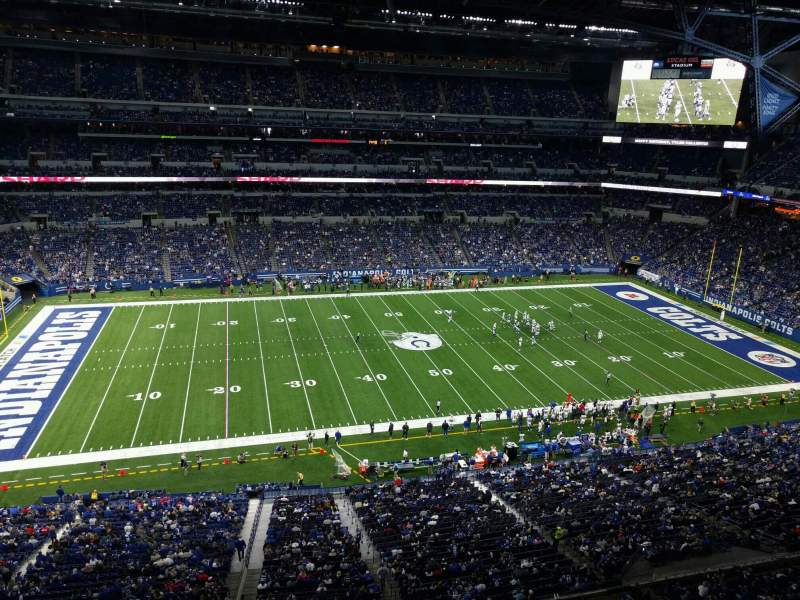 Seating view for Lucas Oil Stadium Section 515 Row 5w Seat 5