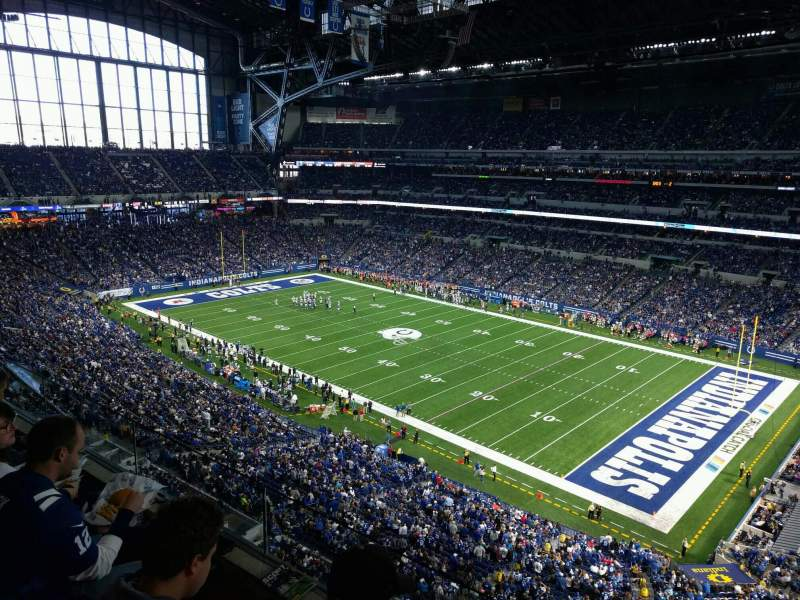 Seating view for Lucas Oil Stadium Section 534 Row 2 Seat 1