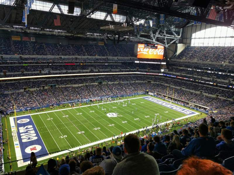 Seating view for Lucas Oil Stadium Section 644 Row 15 Seat 24