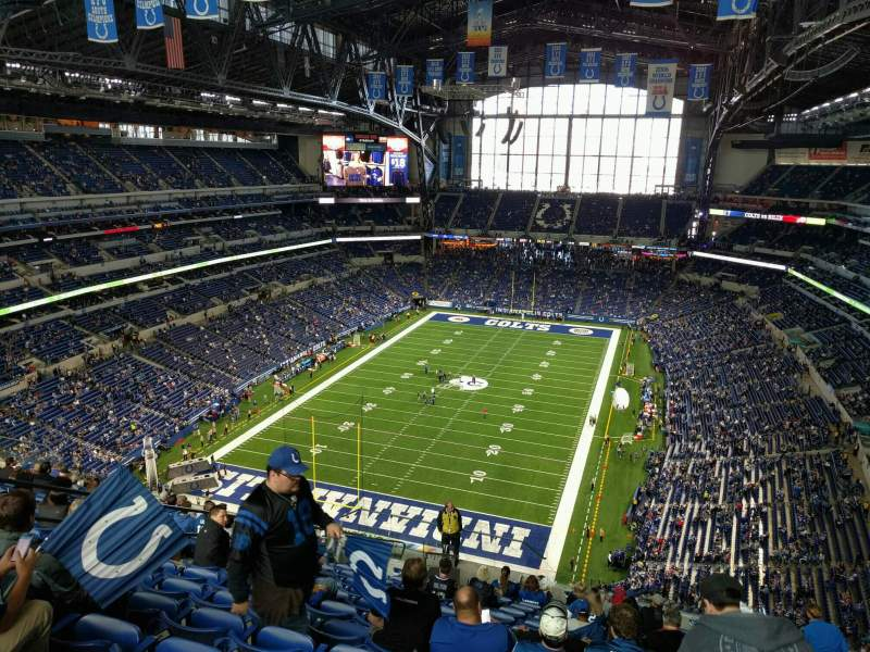 Seating view for Lucas Oil Stadium Section 624 Row 16 Seat 15