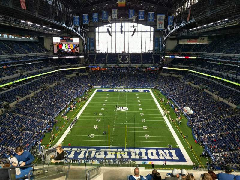 Seating view for Lucas Oil Stadium Section 626 Row 9 Seat 20