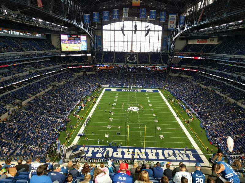 Seating view for Lucas Oil Stadium Section 627 Row 11 Seat 6