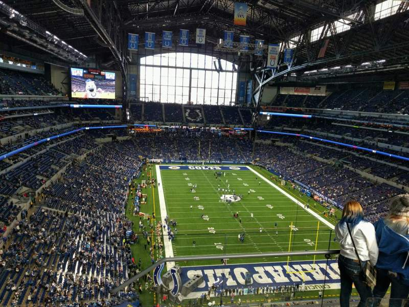 Seating view for Lucas Oil Stadium Section 629 Row 4 Seat 3