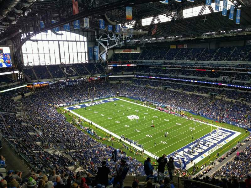 Seating view for Lucas Oil Stadium Section 633 Row 14 Seat 2