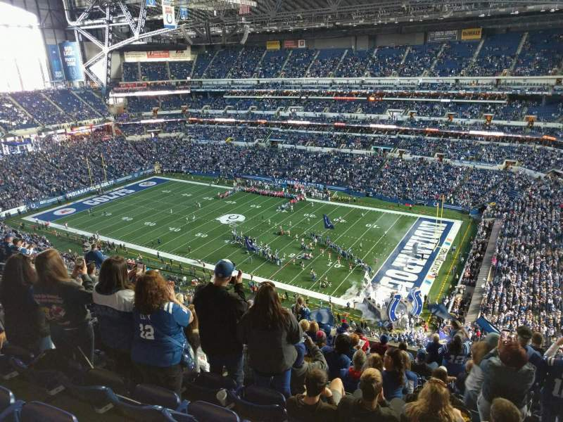 Seating view for Lucas Oil Stadium Section 635 Row 13 Seat 10