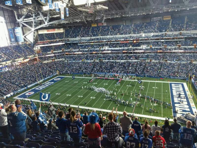 Seating view for Lucas Oil Stadium Section 637 Row 13 Seat 13