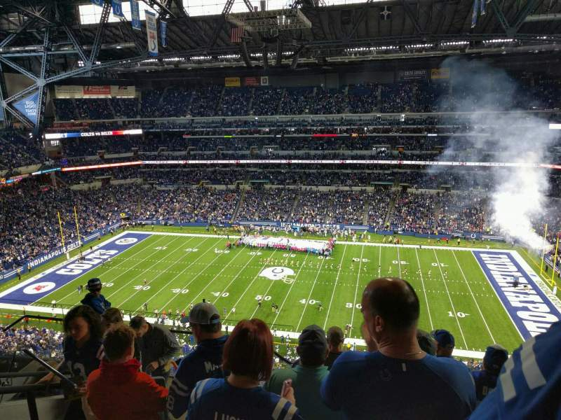Seating view for Lucas Oil Stadium Section 639 Row 7 Seat 19