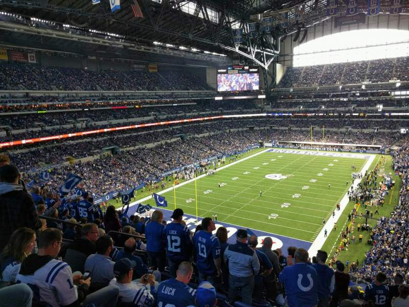 Seating view for Lucas Oil Stadium Section 450 Row 16 Seat 6