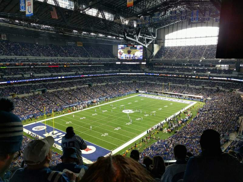Seating view for Lucas Oil Stadium Section 547 Row sro