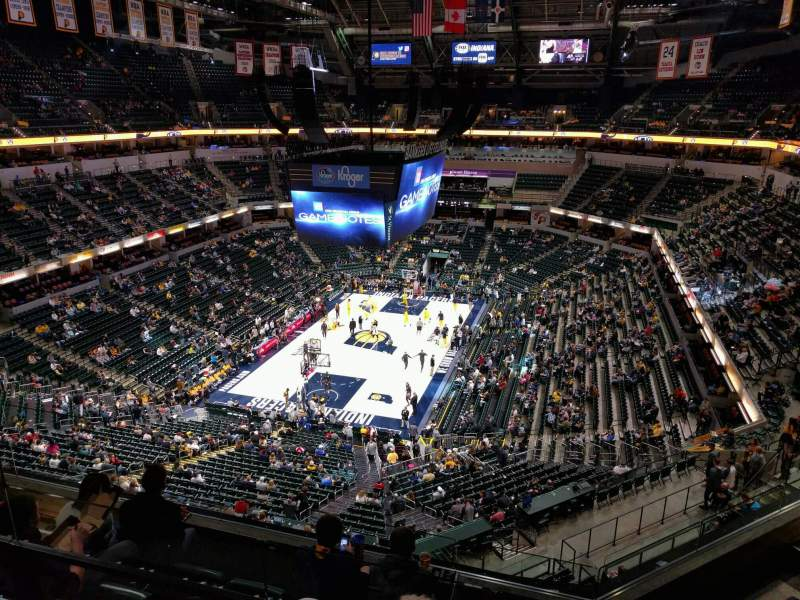 Seating view for Bankers Life Fieldhouse Section 231 Row 5 Seat 12