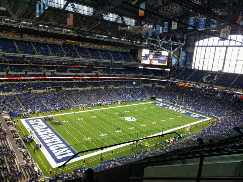 Seating view for Lucas Oil Stadium Section 619 Row 6 Seat 4