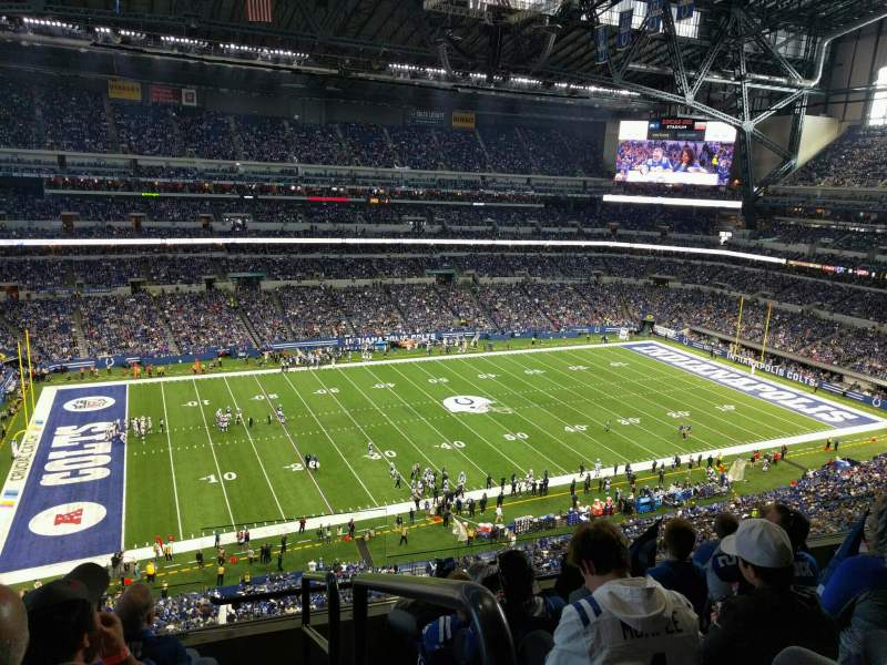 Seating view for Lucas Oil Stadium Section 544 Row 5 Seat 24