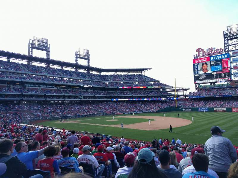 Seating view for Citizens Bank Park Section 112 Row 34 Seat 17