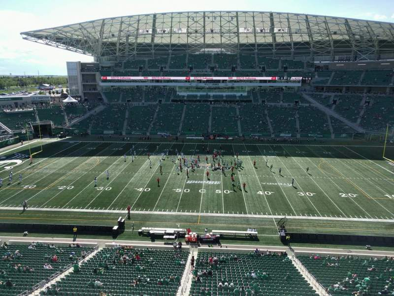 Seating view for Mosaic Stadium Section 538 Row 1 Seat 16