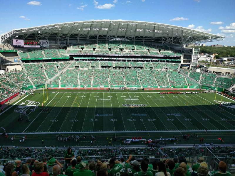 Seating view for Mosaic Stadium Section 616 Row 23 Seat 7